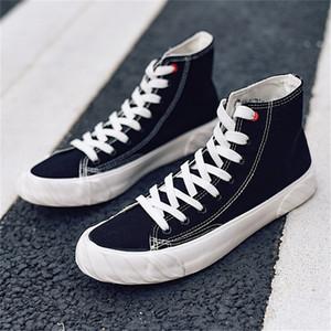 Sonbahar Genç Kurulu Moda Karşıtı kaygan Ulzzang Paten Spor ayakkabılar Sağlam Genç Ayak bileği Boot Tuval plimsolls Casual Patenci Shoes