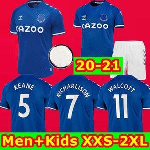 20 21 New Everton soccer jerseys 2020 2021 football shirts RICHARLISON DIGNE SIGURDSSON CALVERT LEWIN tops men kids WALCOTT kits uniforms