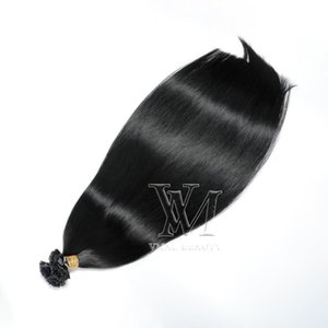 Flat Tip Double Drawn Straight Keratin Virgin Human Hair Extensions 1.5g strand 100s Pre-bonded 14 to 26 Inch #1B #60 #613