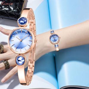 Kimio Royal Blue Женщины Браслет Часы Мода Роскошные Кварцевые Часы Бренд Дамы Повседневное Платье Спортивные Часы Часы Dropshiping T200420