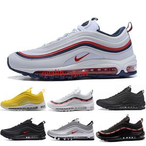 Nike air max 97 Erkekler Koşu Ayakkabı Balck Metalik Altın Güney Plaj PRM Sarı Üçlü Beyaz Tasarımcı Kadın Spor Sneakers ABD 5.5-11