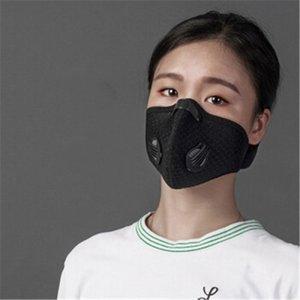 Mode noir bouche masque respiratoire simple Valve # Cyclisme QA813