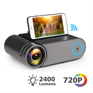 YG420 Mini LED 720P Projecteur natif 1280x720 Portable sans fil WiFi multi écran Vidéo-projecteur 3D YG421 VGA HDMI Proyector YG550 Beamer