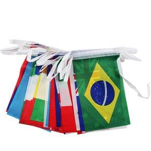 8 метров Национального флаг ткани мир 32 Team Страна World Banner Игра Бар Кофе магазин висячего флажок Бантинг