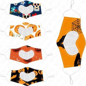 2020 visible mascarilla de moda de Halloween Calabaza Ultra TPU mascarillas clara de dibujos animados máscara unisex Boca-mufla sordos mudos D8305 Sordomudos