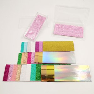Wholesale 100PCS Set Eyelashes Packaging Box Internal Glitter Bottom Card Glittering Decorative Eyelashes Box Bottom Card