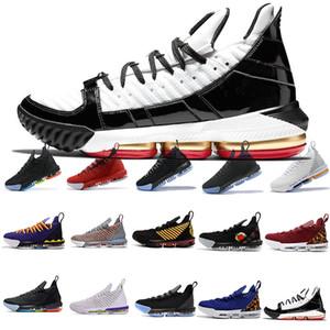 sapatos de luxo homens 16LeBronXVI 16 Black White Gold BHM sapatos de basquete para homens de qualidade superior 16s lobo cinza homens trianers de esportes