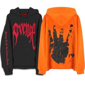 Harajuku Frühlings-Herbst-Rache Kills Hoodies XXXTentacion Männer Hip Hop T-Shirt Orange Schwarz Pullover Street