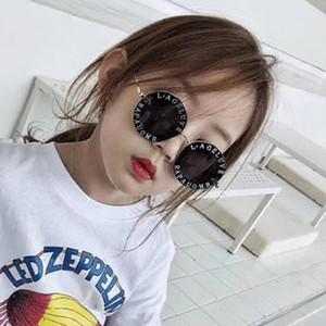 Nettes Mädchen Sonnenbrille 2019 Runde Sonnenbrille Kinder Gold-Bee Kinder Gläser UV400 Jungen Überraschungsgeschenk