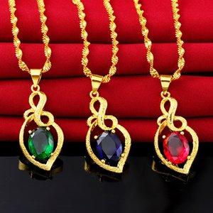 2019 Beliebte Vietnam Sand Gold Halskette Hohe Qualität Halten Farbe Natürlichen Kristall Charms Gold Halskette