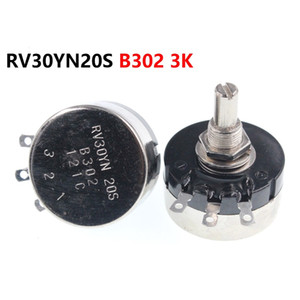 single turn carbon film potentiometer RV30YN20S B302 3K 3W adjustable resistor