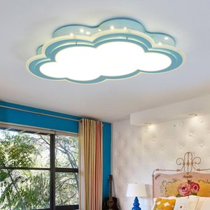 Boy girl led bedroom ceiling lamp cartoon princess room lamp simple eye protection creative cloud children room ceiling light I225
