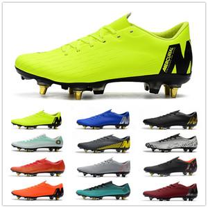 2019 Nueva Mercurial vapores XII PRO SG de los hombres zapatos de fútbol AC crampones De Botas de fútbol Chuteira Ronaldo Neymar Men Copa Mundial de Fútbol Clea