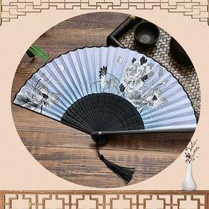 Silk Fan Chinese Japanese Style Folding Fan Home Decoration Ornaments Pattern Art Craft Gift Wedding Dance Hand Fan