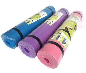 4MM EVA Yoga tappeti antiscivolo Coperta EVA ginnastica Sport Salute perdere peso fitness Esercizio Pad Donne Sport Yoga Mat