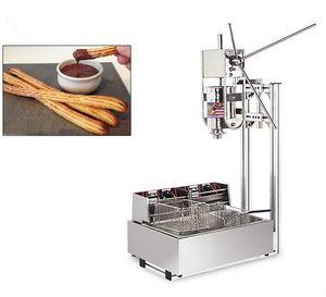 Ticari Kullanım Kılavuzu 5L İspanyol Donut Churro Yapma Makinası + 12L 110v 220v Elektrikli Fritöz + Churros Dolum Makinesi