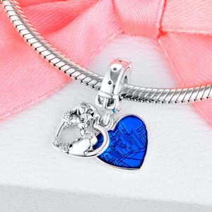 2020 novo 925 Lady Prata e os encantos Tramp coração oscila Fit contas de colar pulseira DIY pingente For Women Fine Jewelry 798634C01