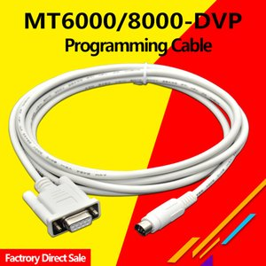 MT6000-DVP Suitable Veinview MT6000 MT8000 HMI To Delta DVP Series PLC Programming Cable MT8000-DVP 9pin male-Round 8pins