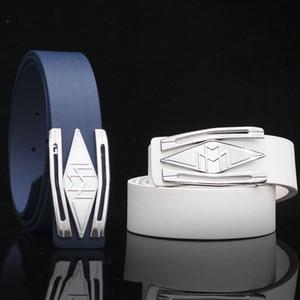 Maybach Logosu Kemer Pürüzsüz Toka High-end Gümüş Erkekler ve Kadınlar Kemer Mektup Deri 3-4 cm Geniş Kemer Patlama
