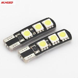 10pcs T10 6SMD CANBUS W5W 6LED DC12V NO WARNING Ошибка Free 6 Smd Canceller Авто светодиодные лампы Marker Внутреннее освещение