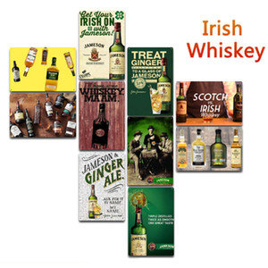 Wholesale Wine Irish Whiskry Metal Signs Tin Painting Posters Crafts Supplies Art Picture 20*30cm Bar, Cafe, KTV Home Wall Decor