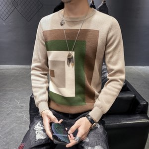 Sonbahar Casual Erkek Triko O-Boyun Slim Fit knittwear Erkek Kazak Kazaklar Kazak Erkekler Pull Homme M-3XL