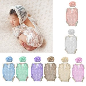 Newborn Photo Props Baby Boy Girl Summer Clothes Baby Lace Hat Hollow V Backless Rompers Infant Photography Accessories