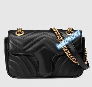 alta calidad hecha en cuero real número de serie del bolso de la mujer bolso de embrague hombro interior con la caja