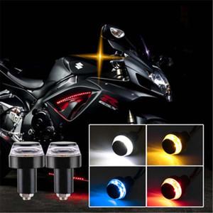 Manubrio del motociclo Fine turno luce di segnale universale Indicatore lampeggiatore Handle Bar End Lampeggiante indicatore laterale Moto Accessori lampada