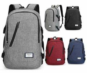 Anti-roubo USB das mulheres dos homens de carregamento Backpack Notebook Laptop Escola Travel Bag