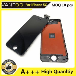 A+++ LCD Display With Home Button Front Camera Touch Screen Digitizer Full Complete Assembly Replacements For iPhone 5C