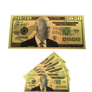 Biden Dollars président américain Banknote feuille d'or 24 carats Bills Pièce commémorative Artisanat Amérique élection générale