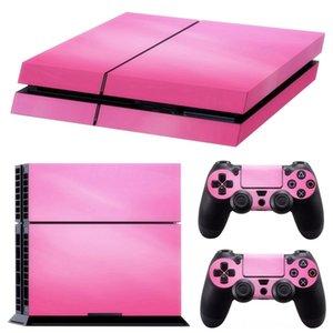핑크 비닐 데칼 스킨 스티커 커버 콘솔 장식 게임 액세서리를 들어 PS4 플레이 스테이션 4 콘솔 2 컨트롤러