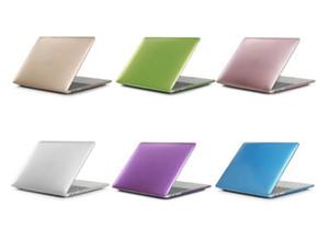 Fosco de metal cor laptop hard case para macbook air 13 12 11 novo macbook pro 13 15 com retina display touch bar capa