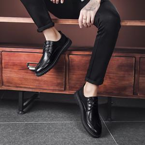 Классический деловой мужской одежды Обувь Мода Элегантные вечерние Свадебная обувь Мужчины Скольжение на офис Оксфорд обувь для мужчин Black Brown%