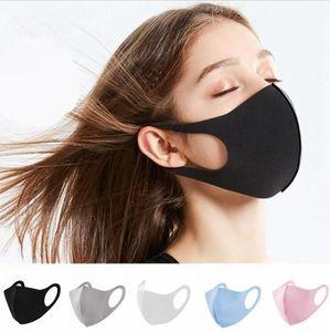 Рот Ice Шелковый маски моющиеся маски дышащий Unisex Face многоразовый Анти пыли Анти Загрязнение Рот Обложка LJJA3854