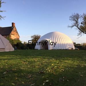 edifici gonfiabili igloo cupola tenda d'aria di evento per il partito, tenda gonfiabile neve igloo con illuminazione a led, tenda di promozione gonfiabile