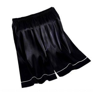 Men's large size thin imitation silk home shorts Beach boxer beach pants boxer pants pajamas