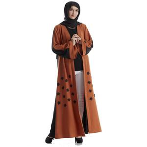 Этническая одежда Мусульманские кружева Кардиган Абаяс для женщин Кимоно Длинное платье для халаты CAFTAN MALOCAIN EID Abaya Полное платье Дубай Кафтан исламский