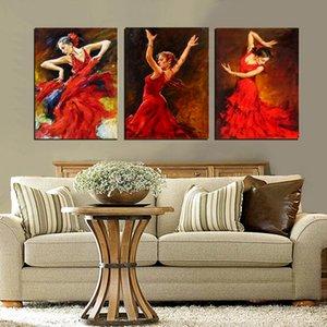 Акварель Танцующие Девушки Искусство Настенная Живопись, Холст, Современные Абстрактные Красочные Девушка Стены Плакаты для Гостиной Декор