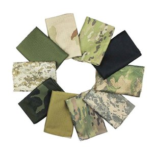 Outdoor Tactical Camo Fish Mesh Scarf Army Veil Sniper Neckerchief Unisex Bandana Neck For Camping Hiking Hunting