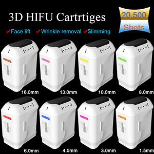 Cartucce 3D HIFU per la rimozione delle rughe di sollevamento del viso 8 Artridges differenti 20500 colpi Ogni corpo di riduzione del grasso Dimagrante 3D Cartuccia HIFU