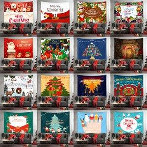 20 Designs Weihnachten Tapestry Frohe Weihnachten Wand Mats Weihnachten Muster Strandtuch Picknick-Decke-Sofa-Abdeckung Hanging