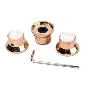 Pack of 3 Golden Volume Tone Speed Control Knobs for Electric Guitar Bass #1