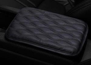 Couro Car braço Pad tampas de assento Universal Center Console Auto braços Caixa Pads Preto Braço proteção de armazenamento Cushion