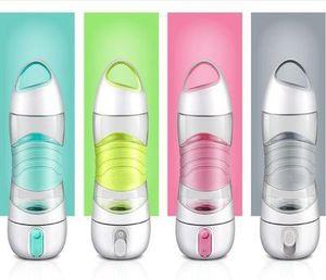 LED DIDI Botella de agua inteligente Humidificador Taza deportiva Taza 400 ml Belleza Spay Cup Luz humectante Noche Recordar Bebida Caldera SOS Tazas de emergencia