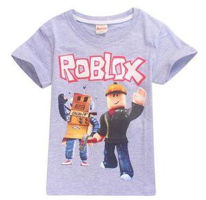 어린이 여름 T- 셔츠 소년 소녀 만화 3D Roblox 게임 인쇄 Tshirts 어린이 캐주얼 의류 아기 반팔 셔츠