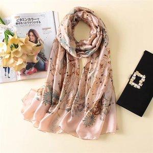 Yulaili Fashion Print Silk Scarf Women High Quality Spring Soft Shawl Wrap Stole Elegance Bufanda Scarf Free Shipping