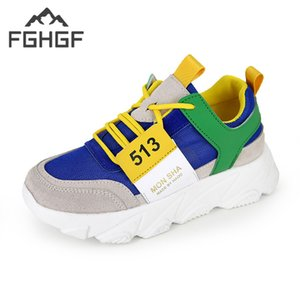 FGHGF Femmes Lace Up Flat Mesh Ronde Baskets Printemps Plate-forme Casual Chaussures Cross-Tied Dames Chaussures Mixte Couleur De Mode Chaussures