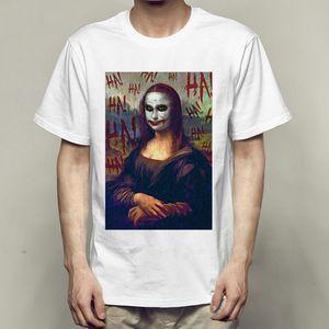 Ha t gömlek Mona Lisa Joker Cosplay kısa Unisex giyim Saf renk tshirt elbisesi Eğlence tasarım tişört Colorfast baskı başında